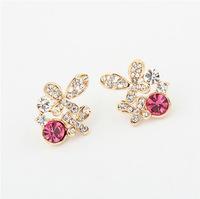 YXSP1665      2014 new fashion    Cartoon butterfly diamond boutique      earring for women