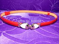 Stock!! Wholesale factory candy-colored waist belt. Fish clasp set with diamonds. Fashion belt, MOQ: 12 pcs / color