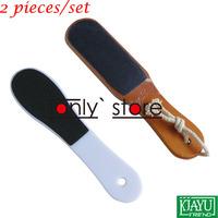 Good quality!  Wholesale & Retail Double Side Foot Rasp File Callus Remover Pedicure Tool 2pcs/set