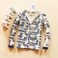 Retail Free shipping 2014 Autumn New boys sweater,children pure cotton birds sweater,kids comfortable jacket