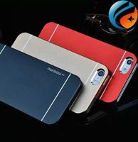 Luxury Aluminum Metal Brushed Hard Plastic Back Cover Case for iphone 5 5s 4s iphone5 10pcs/lot free shipping !