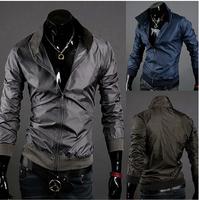 wholesale 2014 Spring The New Men's Sports Jacket Windbreaker Zipper Jacket Men Outwear 4 color CMR49