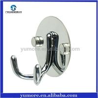 Deluxe Zinc Alloy Bathroom Double Robe Hook,Towel Hooks,Coat Hat Hanger Hook 100pcs/lot
