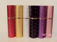 Wholesale 30pcs/lot Mixed Order 10ml Metal Diamond Multicolor Atomizer Perfume Bottle Spray Refillable Bottles New Arrival