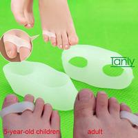 60set/lot Wholesale & Retail Medical silica gel adult little toe children hallux toe Separators 40x15x10mm