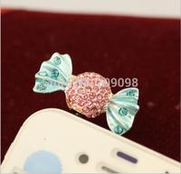 Free Shipping new 2014 lollipop dust plug phone accessories earphone jack cellphone dust cap wholesale