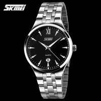 1pc/lot New arrival high quality 304 stainless steel band Skmei watches, 3ATM water proof,with Japan imported movement