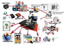 Advanced New Design 8 In 1 Combo Heat Press Machine Plate Mug Cap T-Shirt Heat press Pad Heat transfer Sublimation machine