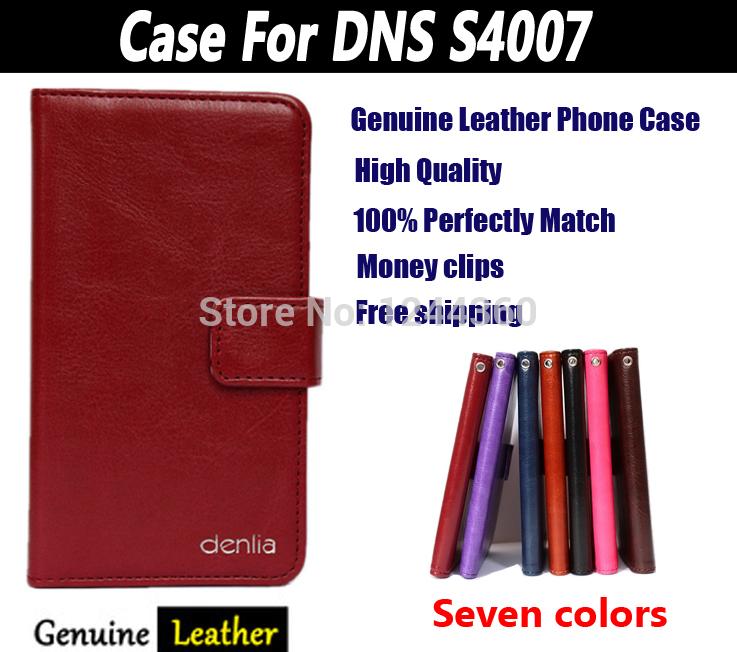 Телефон чехол для DNS S4007 натуральная кожа, ультра-дешевый тонкий защитное чехол оптовой