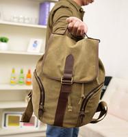 Hot sales Cylinder type  men's backpacks canvas bag men's travel bags