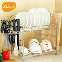 Sakura bowl rack shelf drain rack dish rack kitchen supplies kitchen storage rack tool holder
