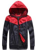 Man spring 2014 New arrival jackets for men sportswear casual thin windbreaker hooded jacket fashion men's sports coats CMR54