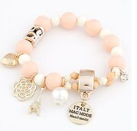2014 Fashion  New Arrivals Jewelry Korean style Heart flower pendant Charm Bracelet  # fthxzm_09052562
