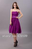 free shiping cocktail dresses plus size A-line knee-length dress custom made