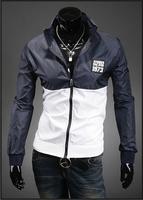 2014 New Arrived Embroidery Logo Windbreak  jacket,Men Casual Sport Long Sleeve Sport Outdoor Coat CMR53W