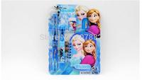220sets/lot ! 2014 Hot Sale Frozen Princess Stationery Set Cartoon Stationery School Set For Girls A3352 Free Shipping