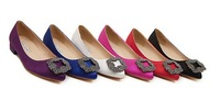 Wholesale New High Quality Manolos Wedding Party Shoes Heel Jeweled Satin European Size 35-41