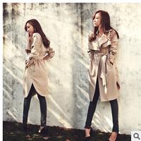 New 2014 London Fashion desigual women Designer Brand  khaki trench Coat women S-XL Double Breasted cardigan coat outerwear
