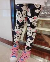 New Children Pants Cute Mickey Mouse Full Printed Leggings Spring Baby Girl Skinny Pants Kids Leggings Trousers Drop Shipping