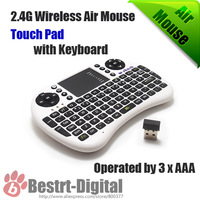 English Keyboard 2.4Ghz wireless air mouse Touch pad with Qwerty keyboard remote control for TV Android Box Computer