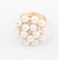 YXSP3002      2014 new fashion   Pearl Flower     Rings for women