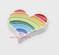 10 pcs  rainbow floating charms for glass locket  FC98,Min amount $15 per order mixed items
