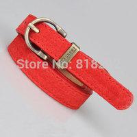 Female Vintage Pigskin Leather Belt Bronze Metal Buckle Straps Ladies Waist Belts Cummerbund for Women Free Shipping
