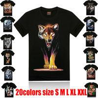 Summer Men 3d Print T-Shirts tees 2014 Male Brand Fashion Short Sleeve t shirt Man Slim O-Neck New Sports Tops Clothes Plus size