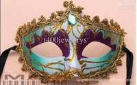 Hot Selling Lace Colored Drawing Diamond Party Mask Masquerade Halloween Christmas Masks Wedding Mask Party Supplies