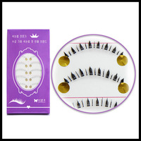 Brand New 10Pairs Handmade Eye Lash Natural Black Lower Under Bottom False Eyelashes Voluminous Makeup Lashes X10