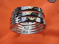 new fashion men's stainless steel bracelet bracelets bangle black