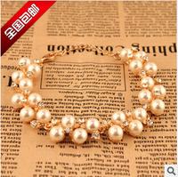 2014 New Vintage Jewelry Crystal Bracelet Fashion Pearl Bracelets for Woman Hot Sale
