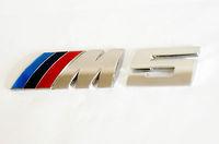 Free Shipping 2014 for BMW ///M5 Chrome Metal 3D Rear Badge / Emblem car Sticker