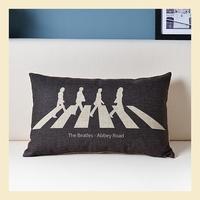 The Beatles Cotton Linen Pillow Case Ikea Nap Pillow Creative Office Lumbar Pad Fashion Cushion Covers 30*50CM B6220 A.A