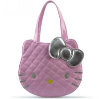 Free shipping 2014 New Arrived Women's Fashion Handbag Hello Kitty Character Design Handbags Ladies Girls PU Leather Totes