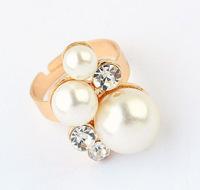 YXSP3007      2014 new fashion  Simple imitation pearl fashion boutique wild    Rings for women