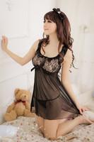[SNY-67]Spot wholesale lingerie manufacturer plus-size sexy pajamas transparent Taste bud silk temptation+free shipping