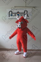 POLE STAR MASCOT COSTUMES red cattle mascot costume white nose bull ox walking act