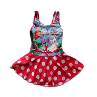 2014 Limited Girls Baby Kids Swimsuit One Pieces Minnie Princess Swim Suit Children Swimwear Bathing Suits Flower Cheap Clothing