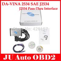 2014 New Arrival DA-VINA 2534 SAE J2534 Pass-Thru Interface For Jaguar For Land/Rover SAE DA J2534 Scanner by DHL