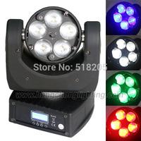 Nightclub lighting 5*12w RGBW  beam and zoom led mini moving heads