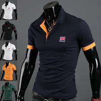 2014 New Large in stock size M-XXL Best quality men 's polo shirt short sleeve t shirt for men Free shipping