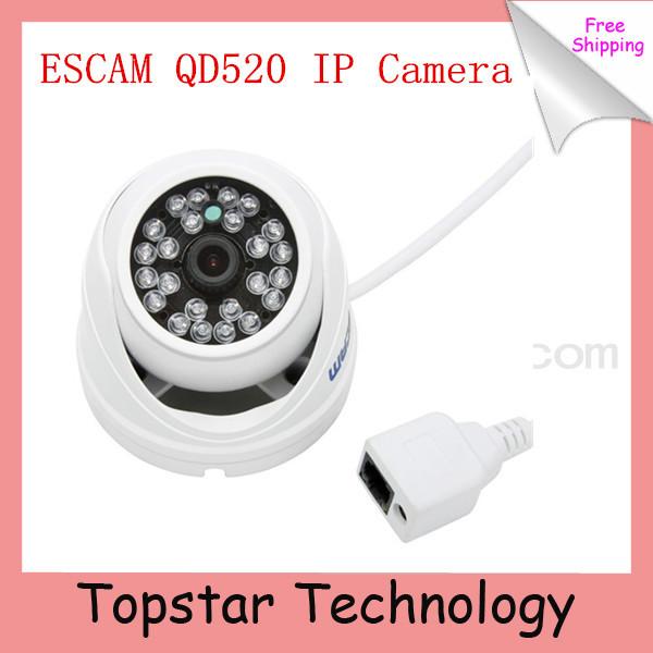 2014 Hot Camera Escam Peashooter QD520 Support Onvif 720P H.264 1/4 CMOS 3.6mm Fixed Lens Night Vision P2P Mini Dome IP Camera(China (Mainland))