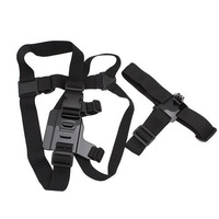 Harness Adjustable Elastic Chest Belt + Head Stap Mount Strap with Plastic Buckle For Go pro  HD Hero 1 2 3