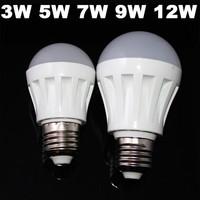 sale  100pcs 3W 5W 7W 9W 12W Led Bulb 110V 220V 230V 240V E27 SMD 2835 Led Lamp Cold/Warm White Led Light Spotlight