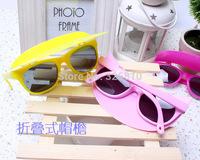 Wholesale summer children glasses 1.05USD/PCS min order 12pcs fashion hat sunglasses ultraviolet sunshade random colors!