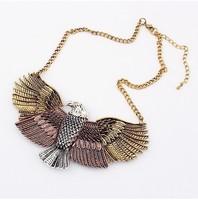YXSP062  2014 new fashion Retro personality short amount eagle wings necklace for women