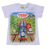 0463 2014 New Spring & Summer 100% Cotton cartton Thomas Children Tshirt Car Boys T shirt  kids  4 color