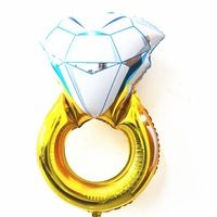 2014 New Design 50Pcs/Lot High Quality big Size 43inch Diamond Ring Aluminium Foil Balloons Party Wedding gift toys Decorations