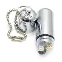New Mini Lighter Fluid Oil Metal Cigar Cigarette Flint Flame Lighter W/ Keychain